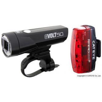 Cateye Beleuchtungskit GVolt 50 + Rapid Micro G