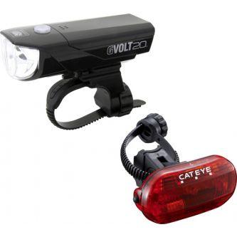 Cateye Beleuchtungskit GVolt 20 + Omni3G
