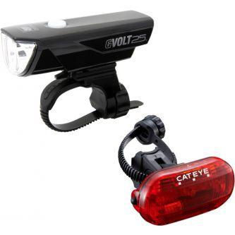Cateye Beleuchtungskit GVolt 25 + Omni3G