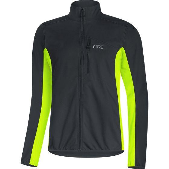 Gore C3 Windstopper Classic Thermo Jacke black/neon yellow