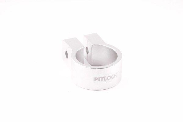Pitlock Sattelklemmschelle 31,8 mm silber