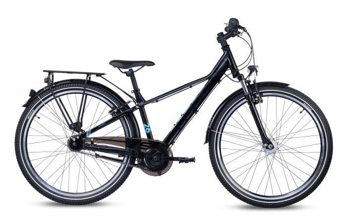 S'cool troX EVO alloy 26-7 black/cyan matt (2020)