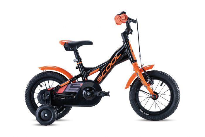 S'cool XXlite alloy 12 black/orange (2020)
