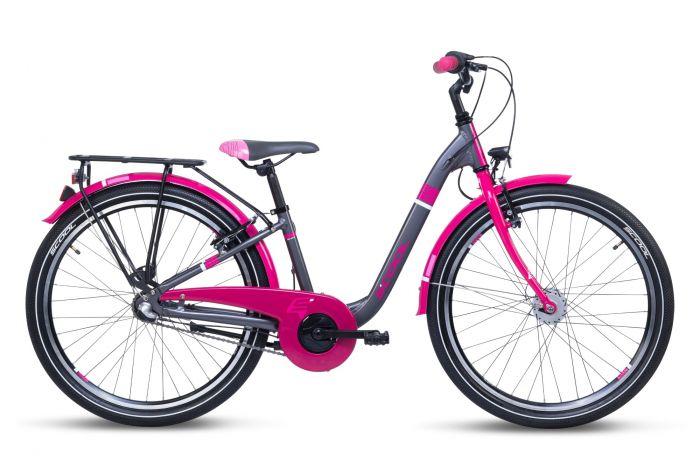 S'cool chiX alloy 24 3-S black/berry (2021)