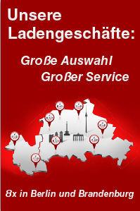 Radhaus Filialgeschäfte in Berlin und Brandenburg